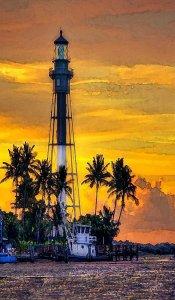 Pompano Beach Lighthouse by Joyce Nielsen