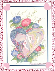 "Retired THASC greeting card, ""LOVE"" by Dwight Hamsley"