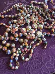 Venetian mosaic necklaces and bracelets