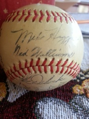 Ball signed by Ted Williams