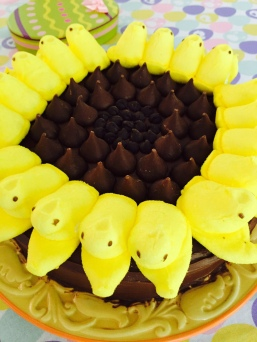Peep Sunflower Cake