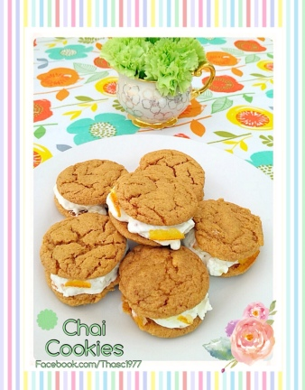 Orange Chai Spice Sandwich Cookies