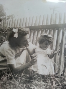 My mom and me as a child