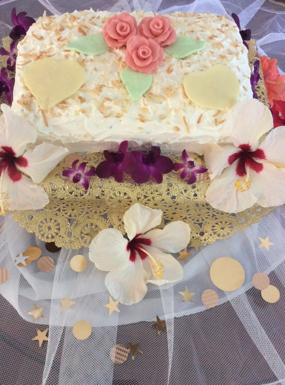 Hawaiian Wedding Cake.Hawaiian Wedding Cake Precious Art By Precious People