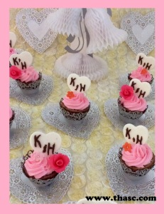 Bridal shower, wedding reception, cupcakes are a perfect choice.