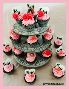 Your three tier cupcakes will steal the show.