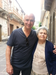 Scot with Concetta in front of Grazia's house