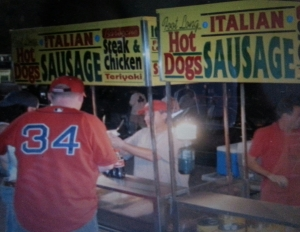 Vendors outside Fenway Park