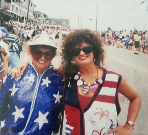 My sister Sara and I ready for the parade on Block Island.