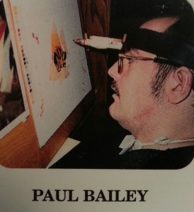 """FULL BLOOM"" is an original marker painting by Paul Bailey of the Badger State, Wisconsin. Paul is a Quadriplegic from an automobile injury. Paul creates his artwork dot by dot with a head stick. This greeting card was reproduced for an original artwork by Paul Bailey for THASC Sales Co. who has employed a unique group of handicapped artists who create art to help rehabilitate themselves. They gain self-respect and pride through their artwork."