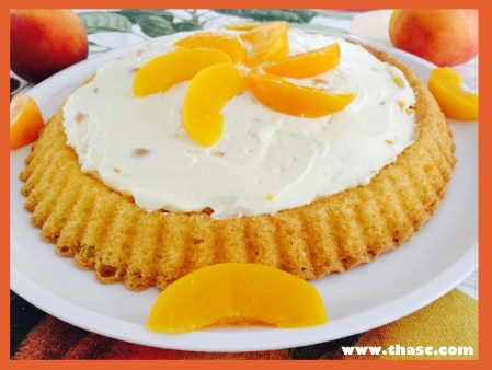 Mom's Easy Peach Flan