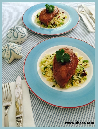Ruby Glazed Chicken and Jeweled Couscous