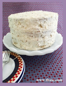 Decorate with white icing and pecans