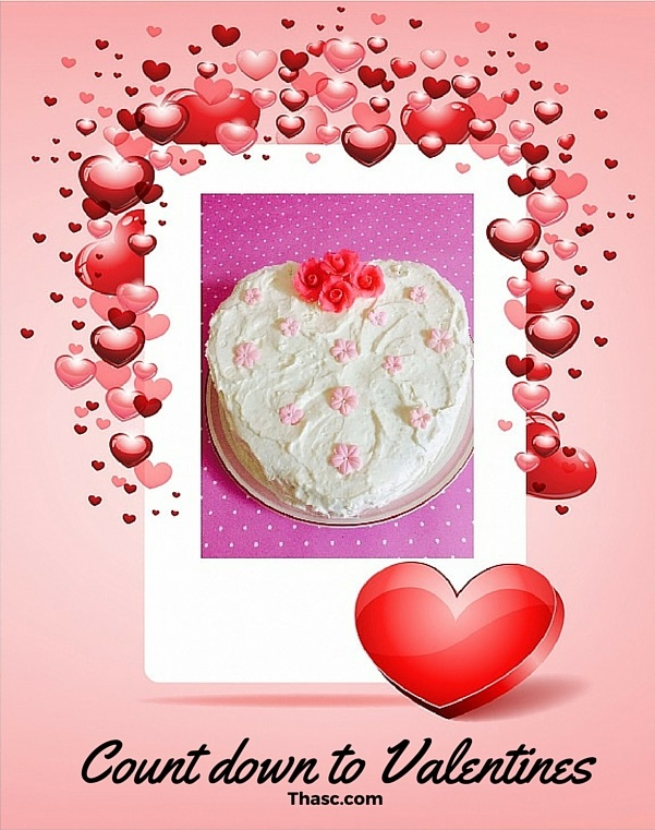 White Chocolate Valentine's Gateau