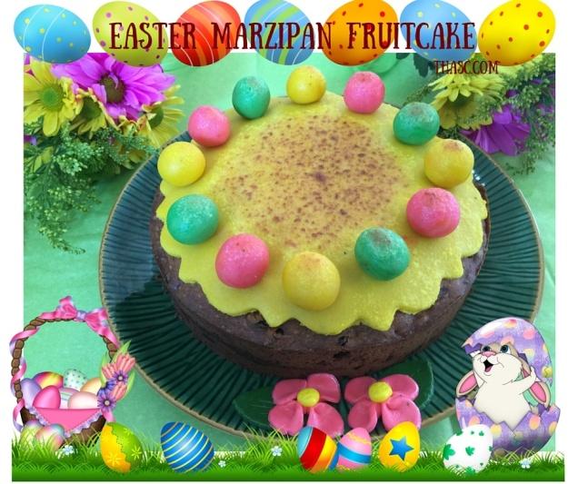 Easter Marzipan fruitcake