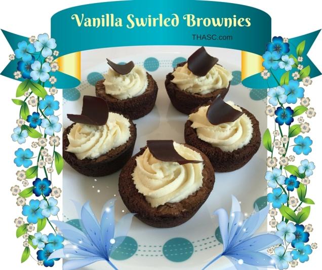 Vanilla Swirled Brownies