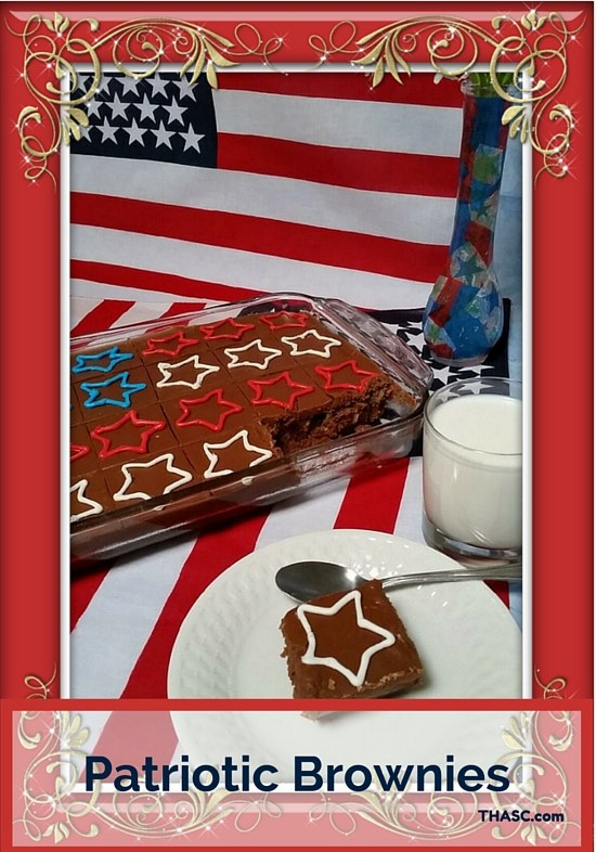 Patriotic brownies 10 June