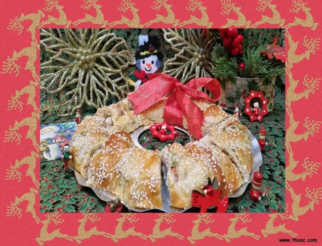 Crescent Roll Wreath Appetizer