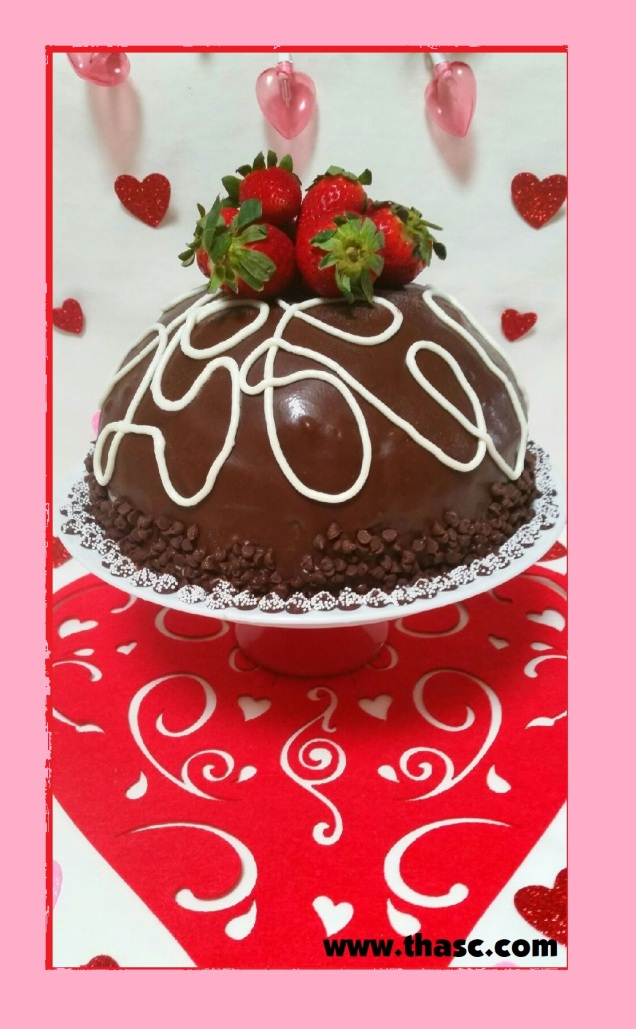Chocolate Strawberry Mascarpone Cake