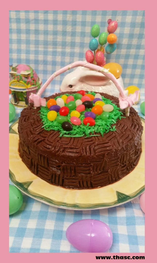 Easter dessert ideas precious art by precious people easter basket cake negle Choice Image