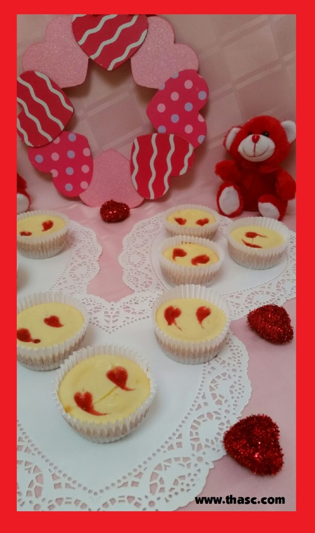 Raspberry Heart Cheesecake
