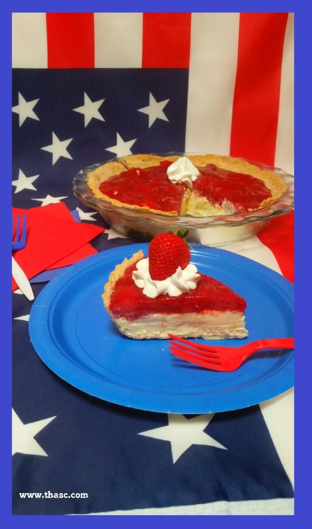 Strawberry Eggnog Pie