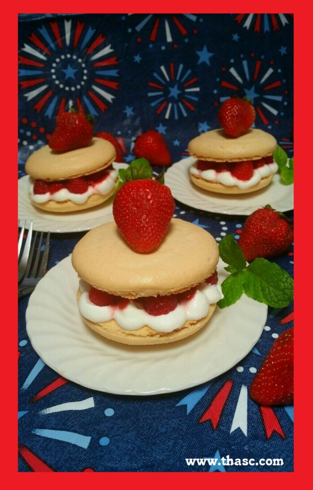 Summer Berry Macaroons