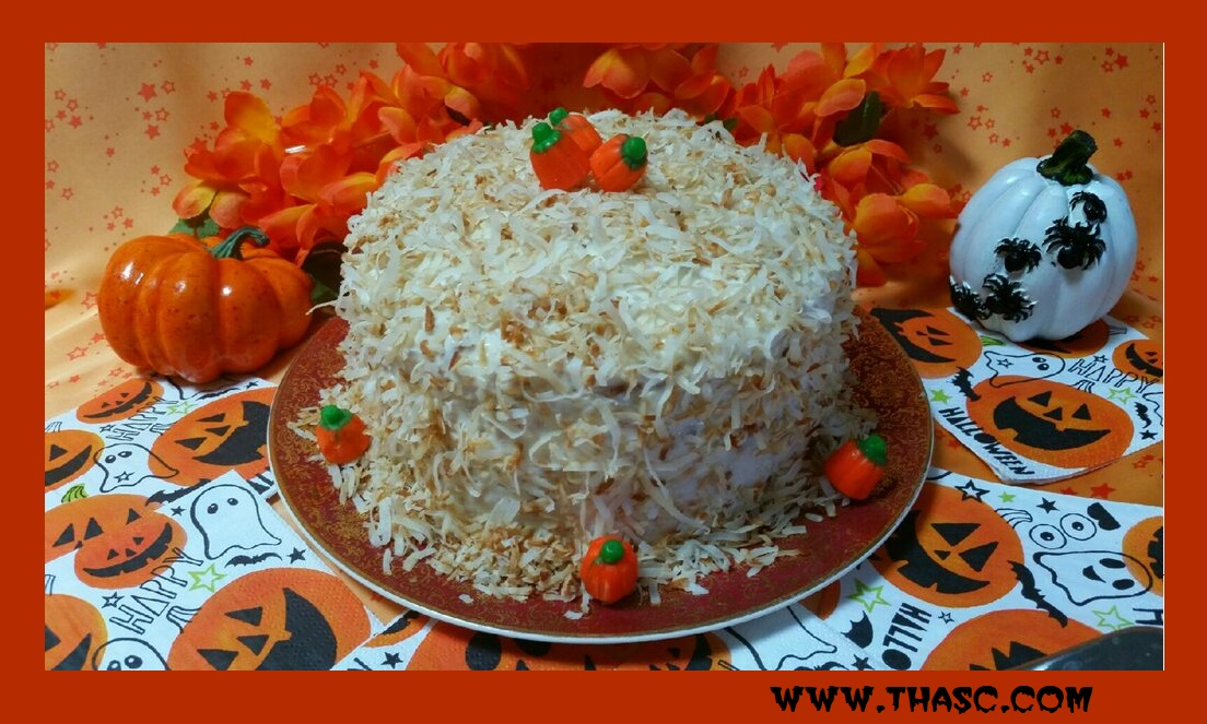 Halloween Coconut Cake