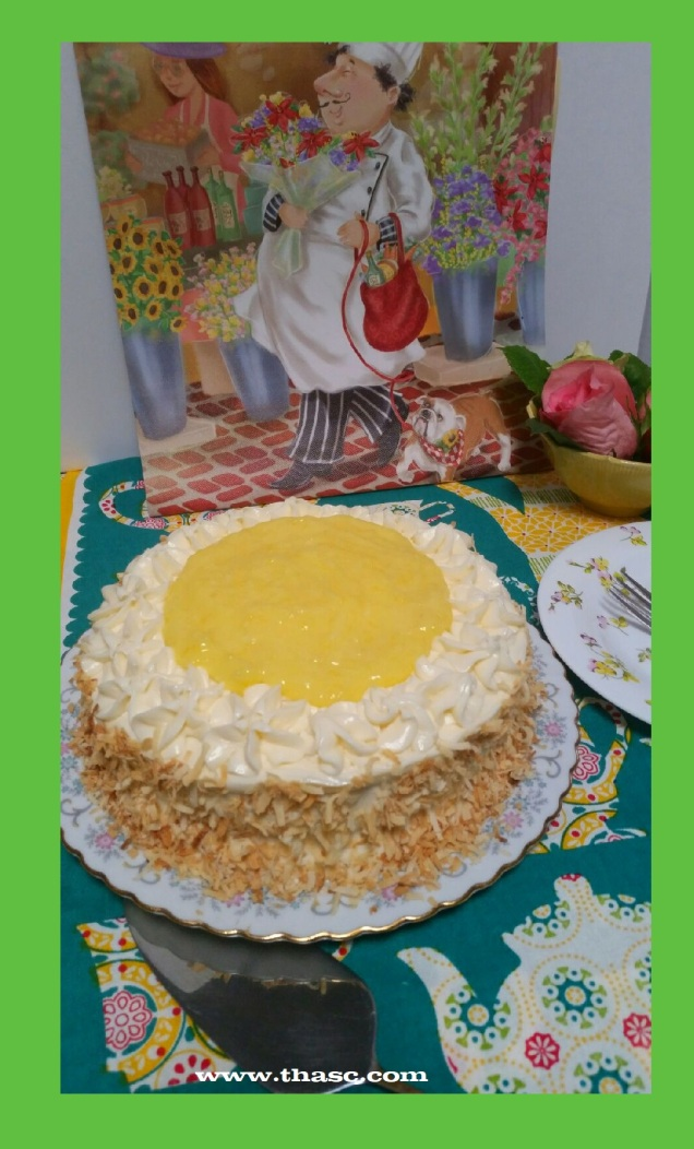 Coconut Cake with Lemon Filling
