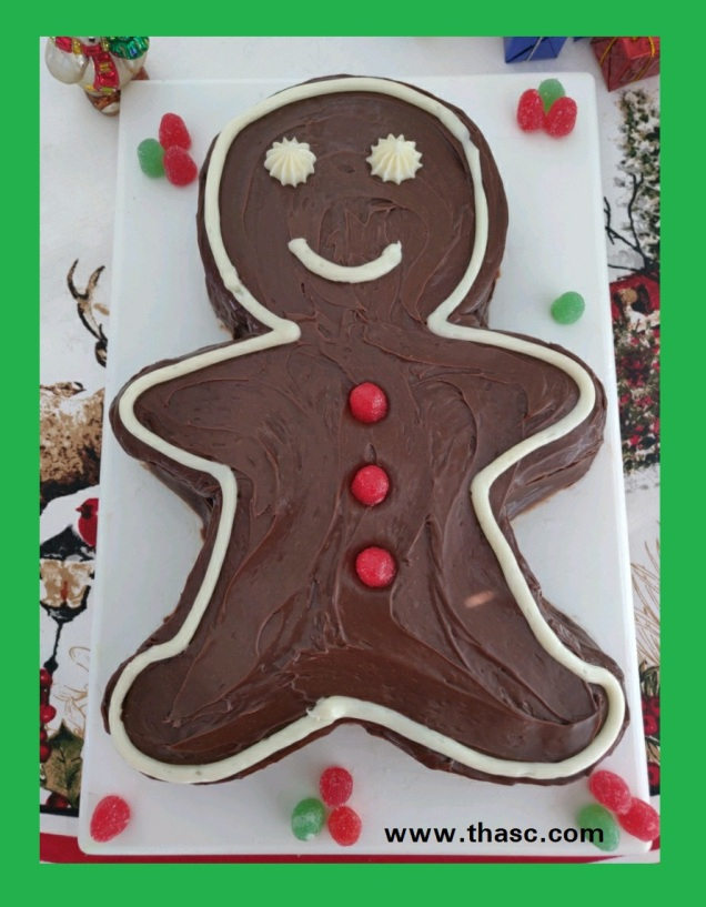 Gingerbread Boy Chocolate Cake