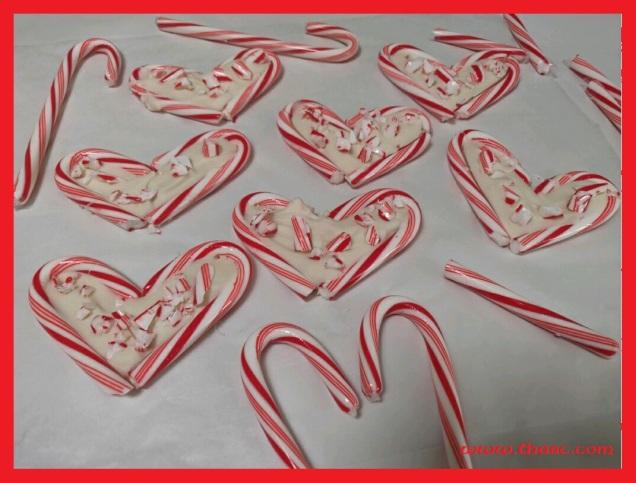 Peppermint Bark Hearts